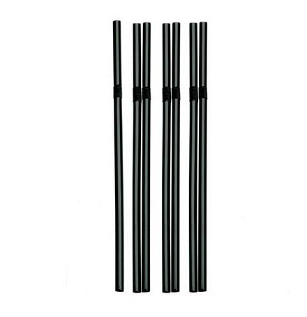 Pailles Flexible straw ø 6 mm 19.5 cm black par 500