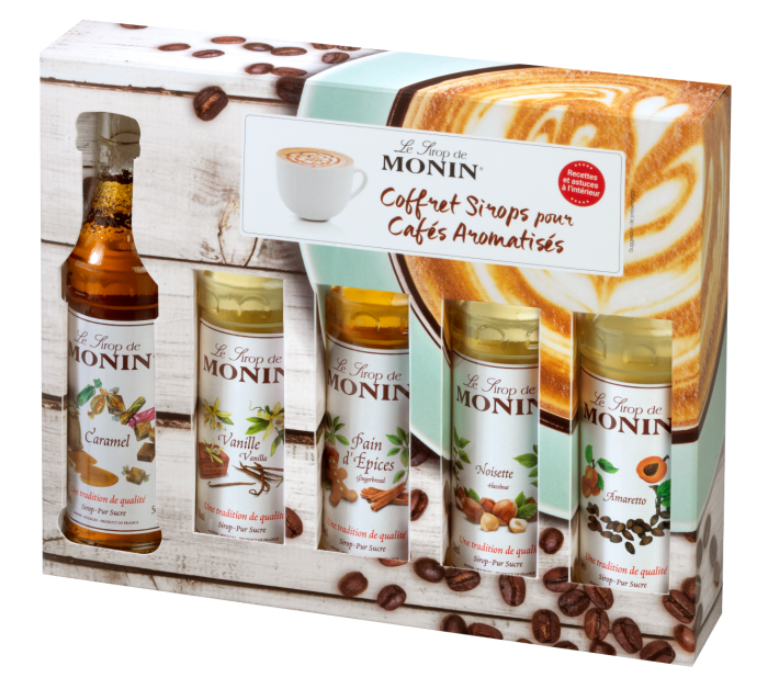 MONIN Coffee syrup gift set...