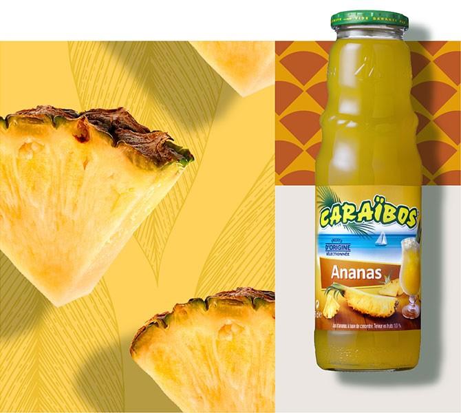 Caraïbos Ananas 1L