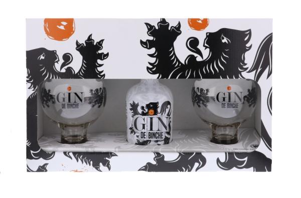 Gin de Binche + 2 Verres...