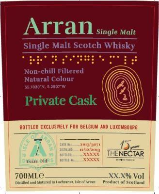 Arran 2013 single cask for...
