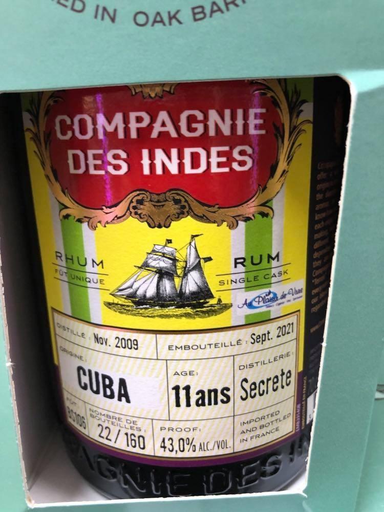 Rhum Compagnie des indes...
